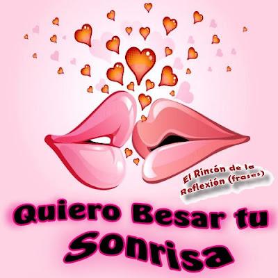 postales con frases de besos