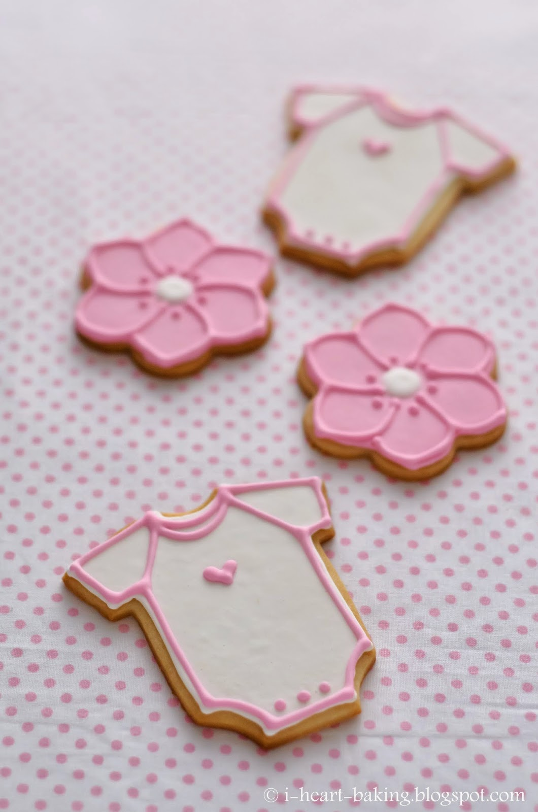 pink baby shower dessert table sugar cookie favors macarons mini