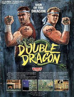 Double Dragon arcade game portable flyer