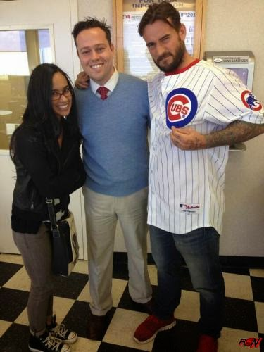 AJ Lee and CM Punk Together at Saturday's Baseball Game.