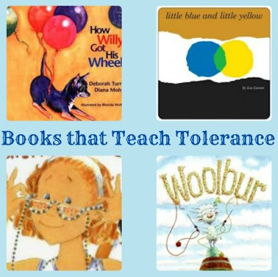 http://kidworldcitizen.org/2012/12/07/teaching-tolerance-through-childrens-books/