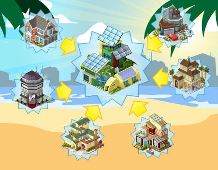 CityVille-Sommer-Wohngegend
