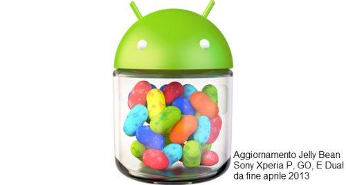 In arrivo la prossima settimana e fino alla fine di maggio l'aggiornamento jelly bean per alcuni smartphone sony come Xperia G, P e E DUAl