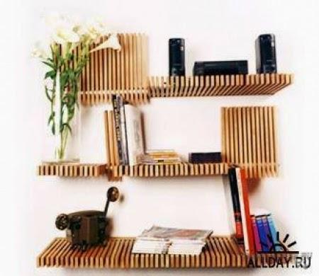 Complicated  book shelve