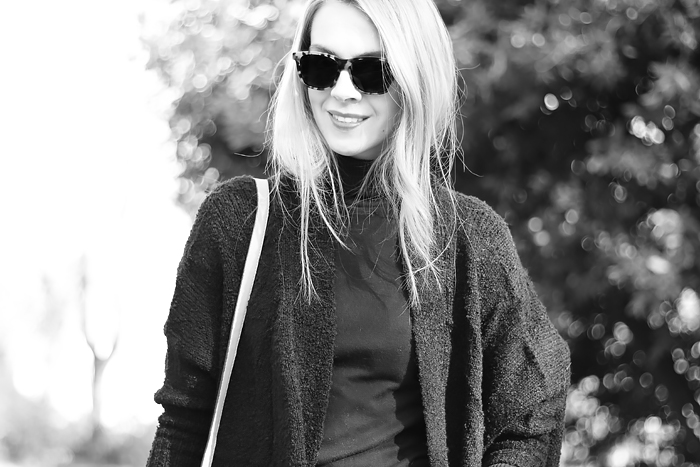 oversized cardigan, Illesteva tortoise sunglasses, outfit, fashion