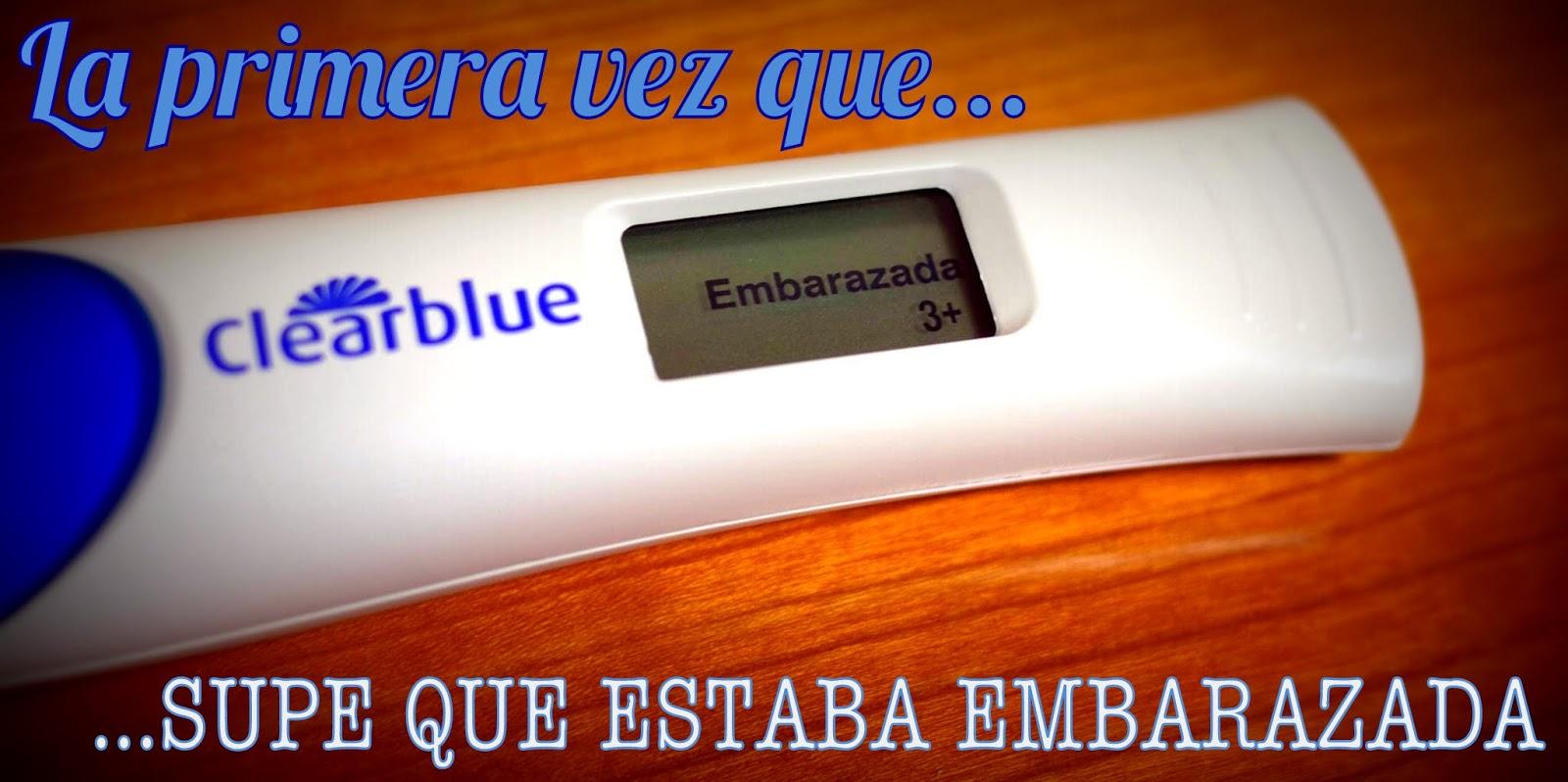 Foto de un test de embarazo