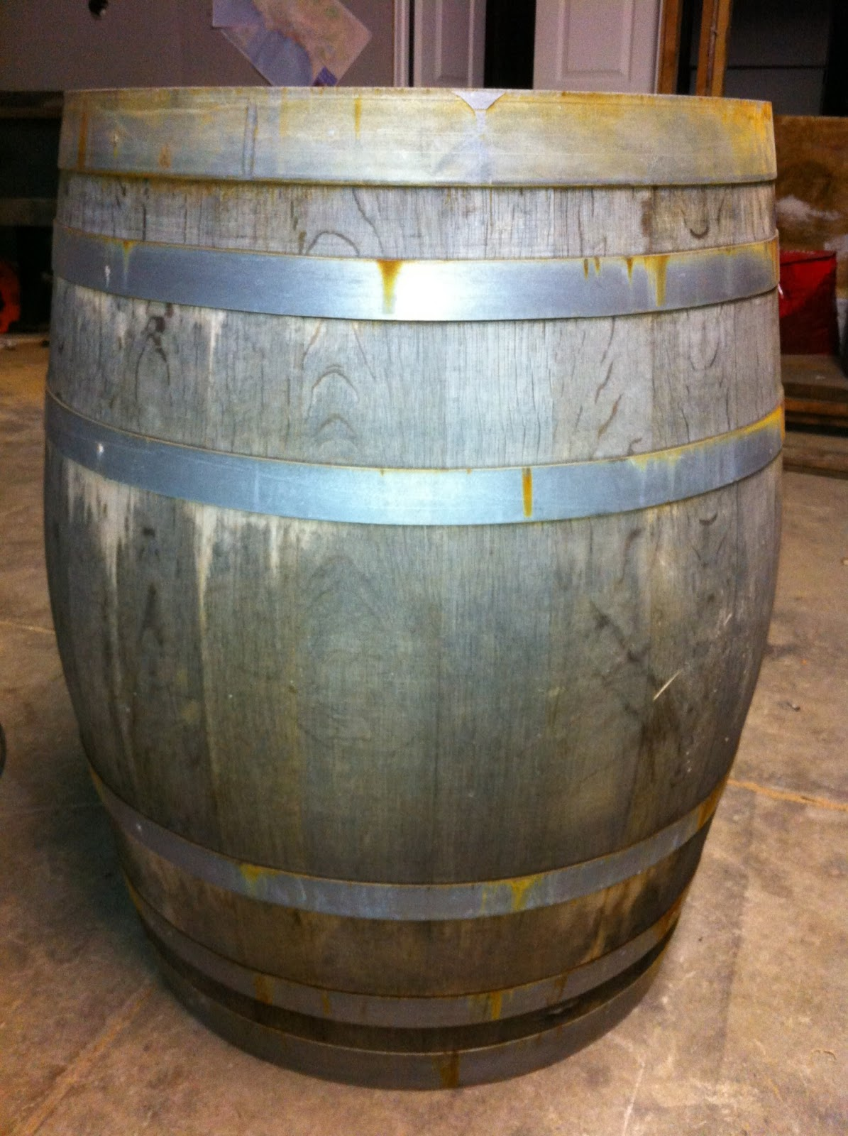 Shop custom wine barrel furniture tables and sets wine barrel - Img_4691 Jpg