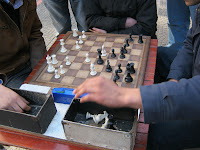chessmatch at the street in montevideo
