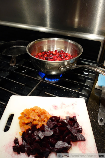 Apple/Apricot, Beet, Cranberry Sauce | Farm Fresh Feasts