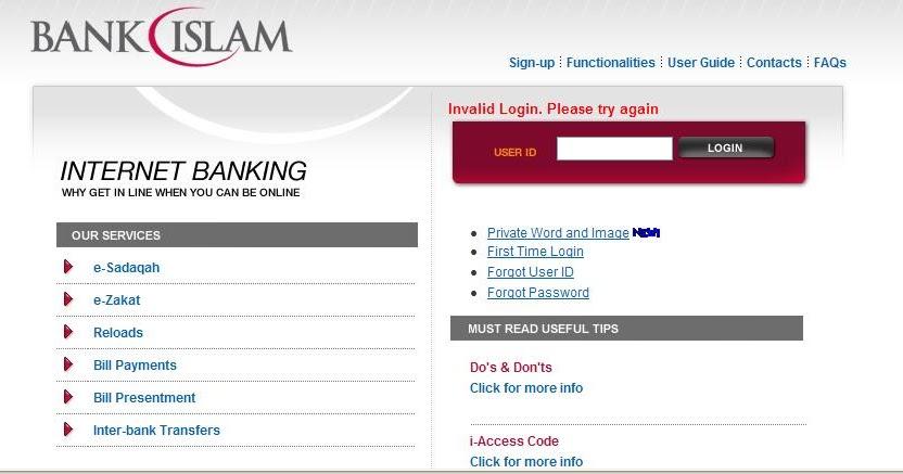 Bank islam log in