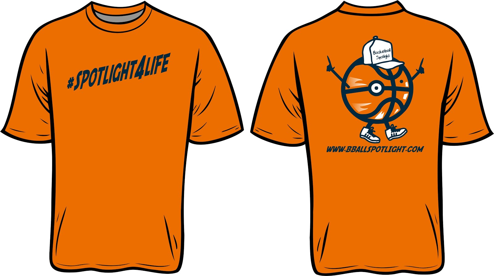Basketball Spotlight T Shirts (For Sale)
