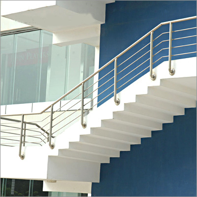 Build a building interior with stair for Balcony ki design