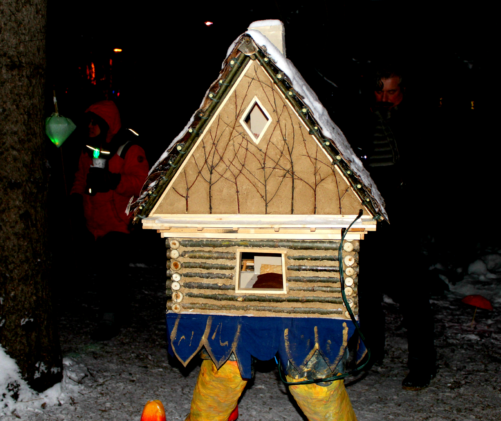 A Log Cabin... With Chicken Legs?
