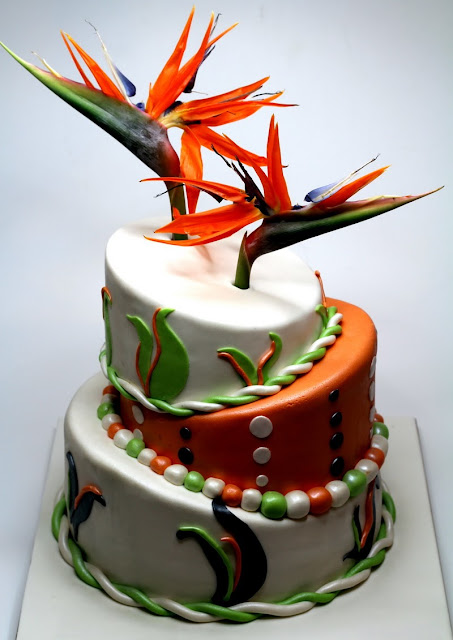 Bird of Paradise Wedding Cake in London