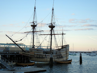 Mayflower ship replica, the Mayflower II, in Plymouth Memorial State Park in Massachusetts