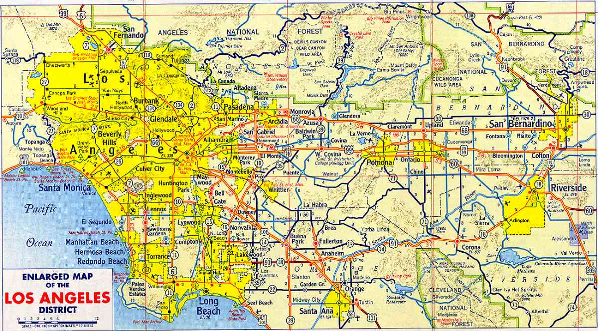Map Of Los Angeles  Free Printable Maps