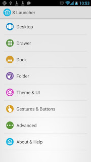Tema Android Samsung Galaxy S - S Launcher Prime v3.92