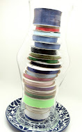Store Spools of Ribbon in a Hurricane Globe