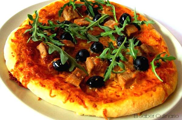 como hacer pizza casera