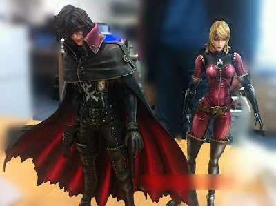 Square Enix Play Arts Kai Captain Harlock and Yuuki Figures