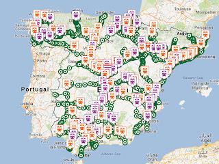 Positrén, mapa interactivo con todos los trenes de España