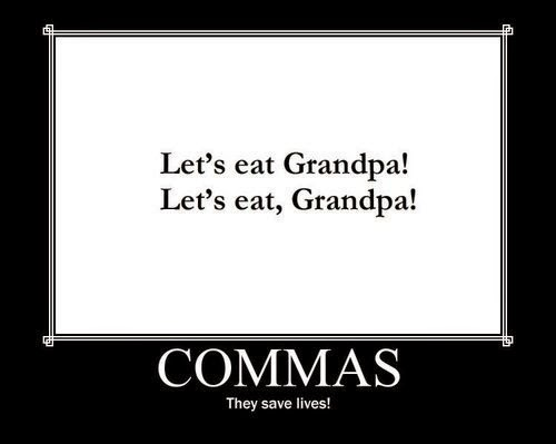 Commas Save Lives Grammar 101
