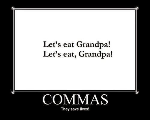 Commas Save Lives Grammar 101