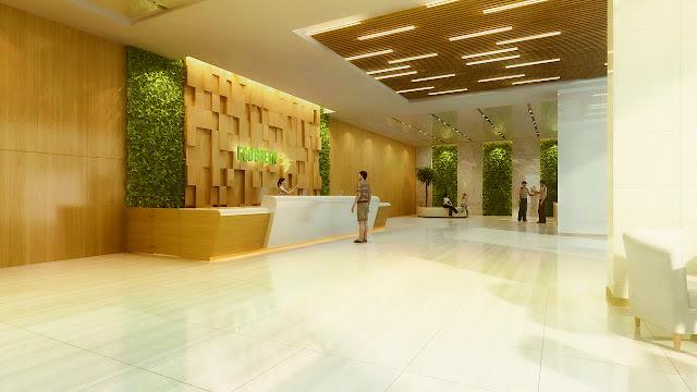 Sảnh tầng 1 dự án Eco Green City