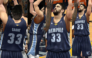 NBA 2K13 Memphis Grizzlies Away Jersey Patch