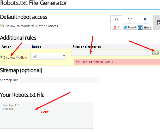 Robot.txt for Blog SEO: List of Generator