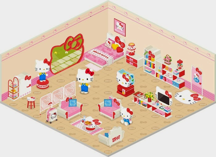 Free found this picture of hello kittyus old official line for Chambre hello kitty