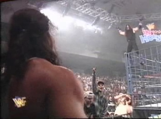 WWF / WWE - In Your House 6 - Rage in the Cage - Diesel and Undertaker stare down to end the show
