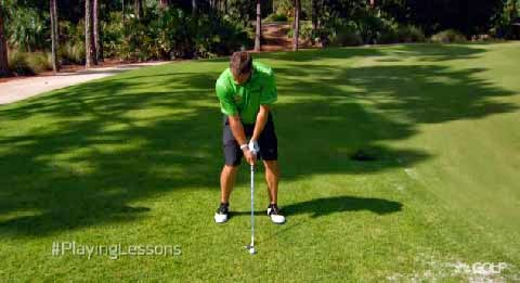 Lee Westwood flop ball position