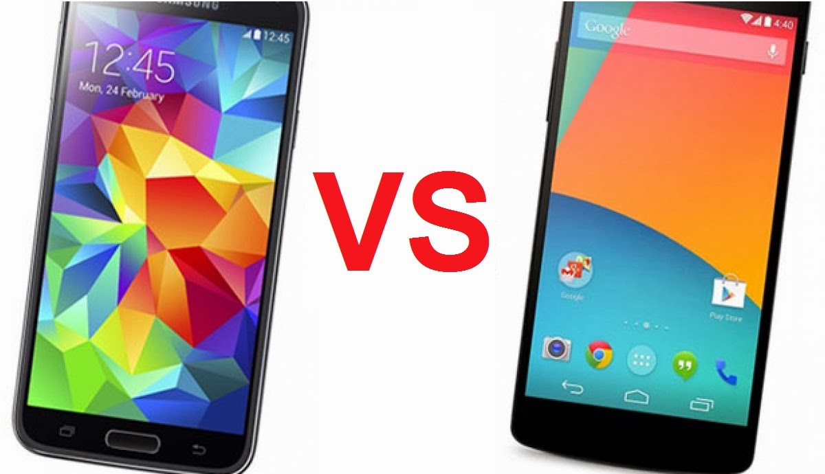 Samsung Galaxy S5 vs LG Nexus 5