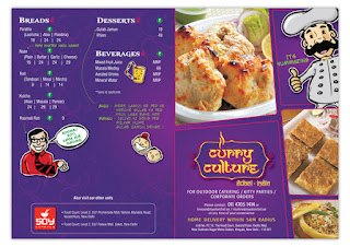 Curry Culture Pacific Mall Menu