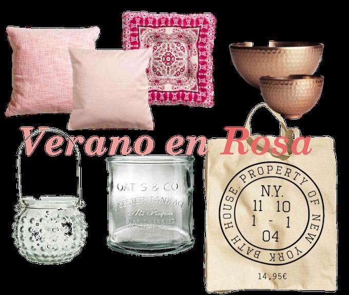 decoración en tonos claros y rosa empolvado