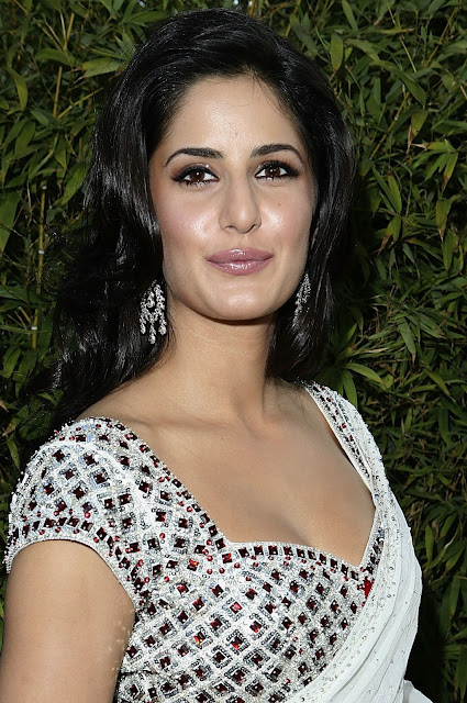 Katrina Kaif Sexy Cleavage Show In Saree At The Opening Event Of Night Of India Splendor in Beverly Hills, California