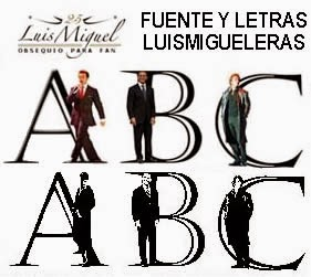 DESCARGA LETRAS Y FUENTE DE LUIS MIGUEL