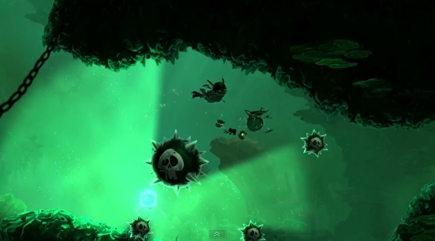 "Screenshot of ""20,000 Lums Under The Sea"" trailer for Rayman Legends"