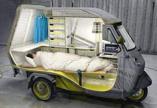 Maybe world's most compact (and fuel efficient) RV? Watch out Winnebago!