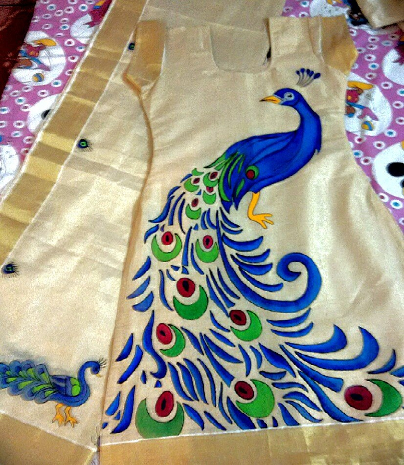 39 kerala mural design on kerala saree 39 kerala mural on