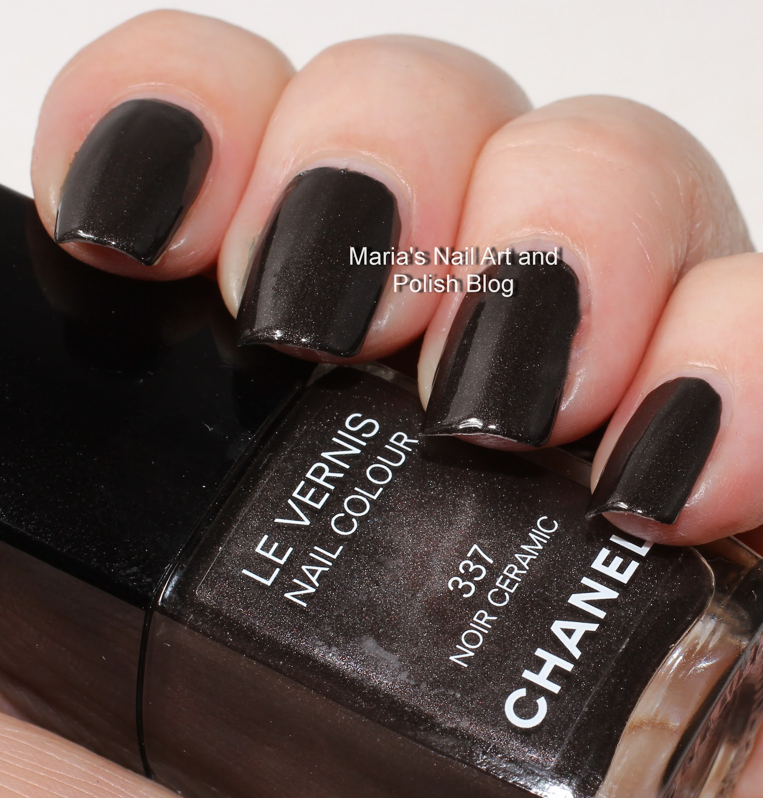 marias nail art and polish blog chanel noir ceramic 337. Black Bedroom Furniture Sets. Home Design Ideas