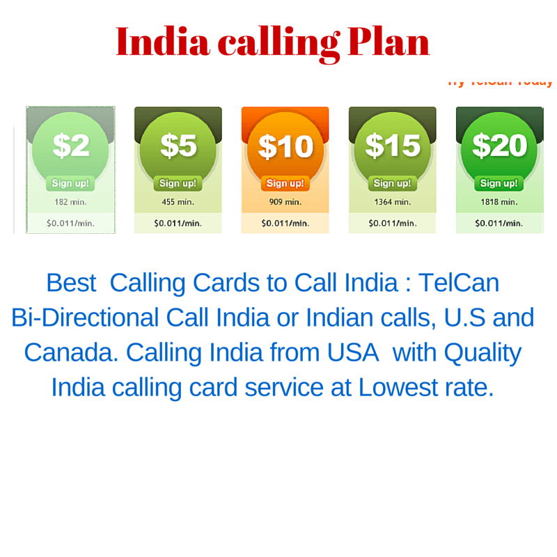 call to india from usa is never easy as with telcan calling cards telcan offers you the best prepaid calling card with multi feature - India Calling Card