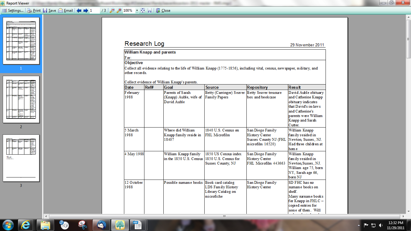 reserch log What is a genealogy research log a research log is used to track your genealogy research findings whether they are online or in person at an archive or a library most genealogists need some system of tracking the information and evidence they locate in order to determine whether or not that data .