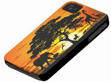 Wild Animals on Savannah Sunset iPhone Case