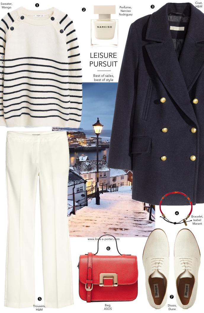 Nautical style outfit ideas for winter via www.look-a-porter.com style & fashion blog