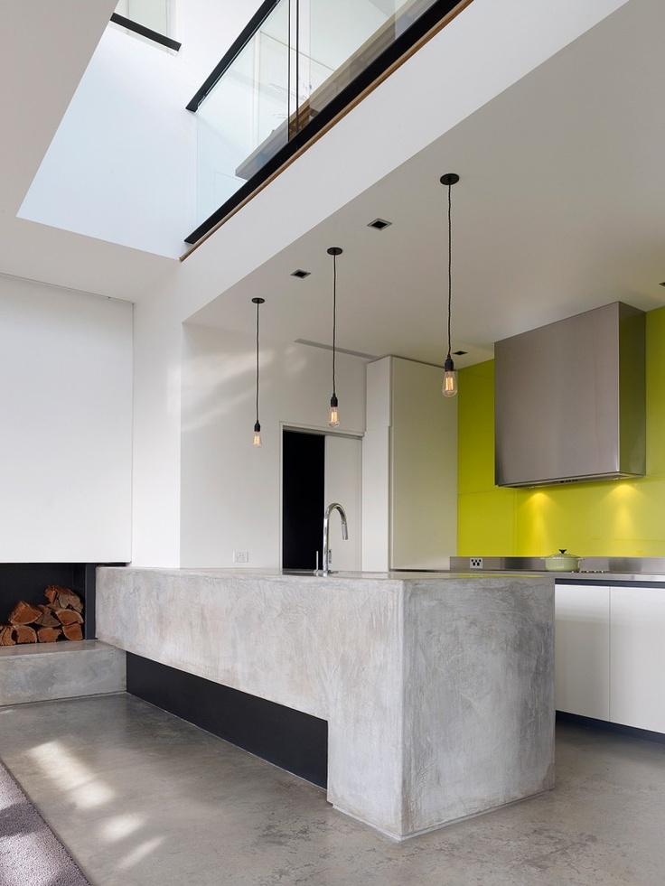 Dise o de cocinas con cemento pulido - Cocinas con diseno ...