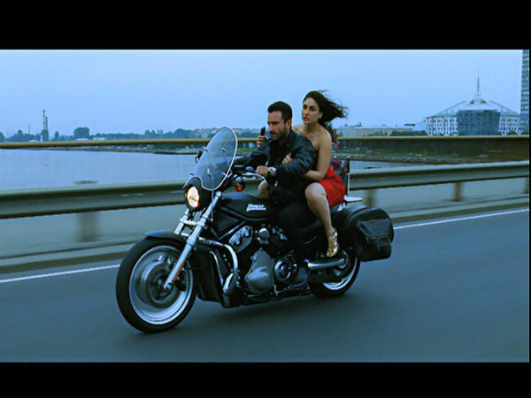 Kareena Kapoor Bike Ride Red Dress  Agent Vinod - Kareena Kapoor Agent Vinod Ho tPics