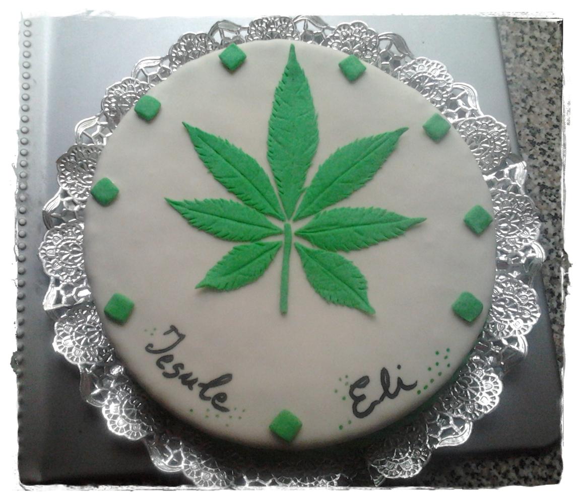 TartasLoveSugar Tarta hoja marihuana