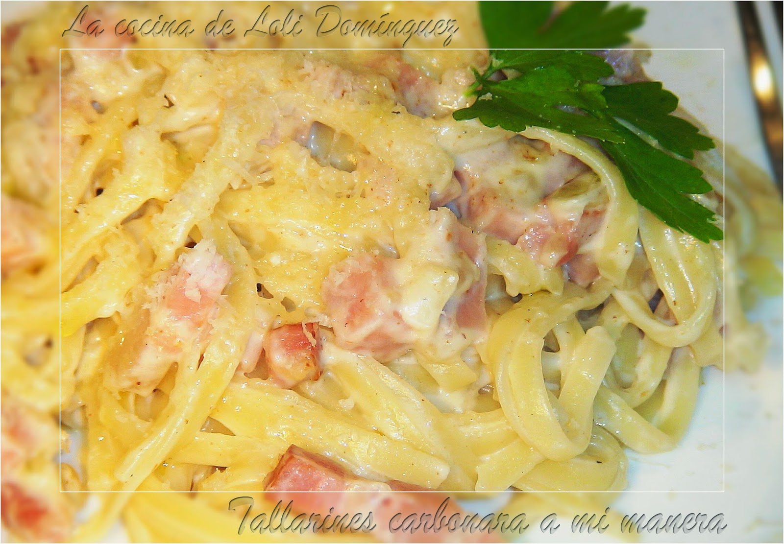 Tallarines carbo...